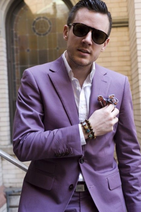Image result for men in purple trend