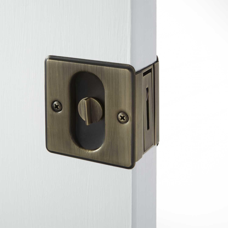 Pocket Door Privacy Latch Set