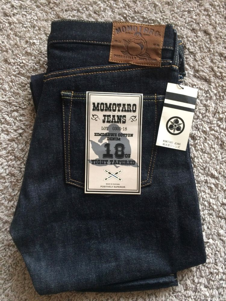 Momotaro Natural Tapered Mens Jeans - 18oz Zimbabwe Cotton