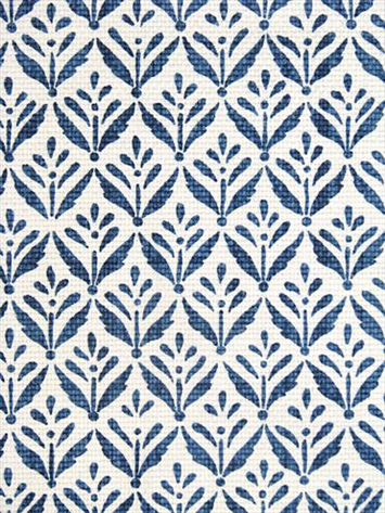 Morrison Cobalt Fabric Small Blue Print On White 40% Heavy Cotton Delectable Fabric Patterns