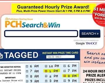 PCH Search and Win - Best Search Engine to Win SuperPrizes