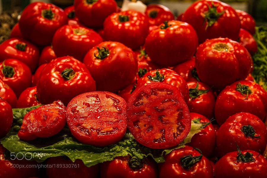 http://500px.com/photo/189330761 Cherry Red by Shyamprasad22 -. Tags: redcolourmarketmarketplacecolurfulTomatovine tomatovegetabk