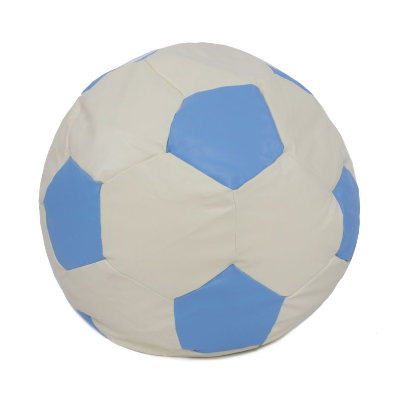 Light blue faux leather football bean bag ideal gaming