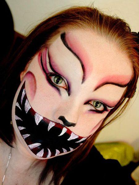 Scary Makeup Faces Halloween Tumblr Facebook Twitter sweet - halloween horror makeup ideas