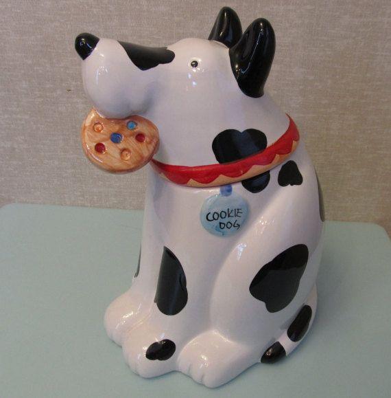 Large Cookie Dog Cookie Jar By Coco Dowle Vintage 1970s