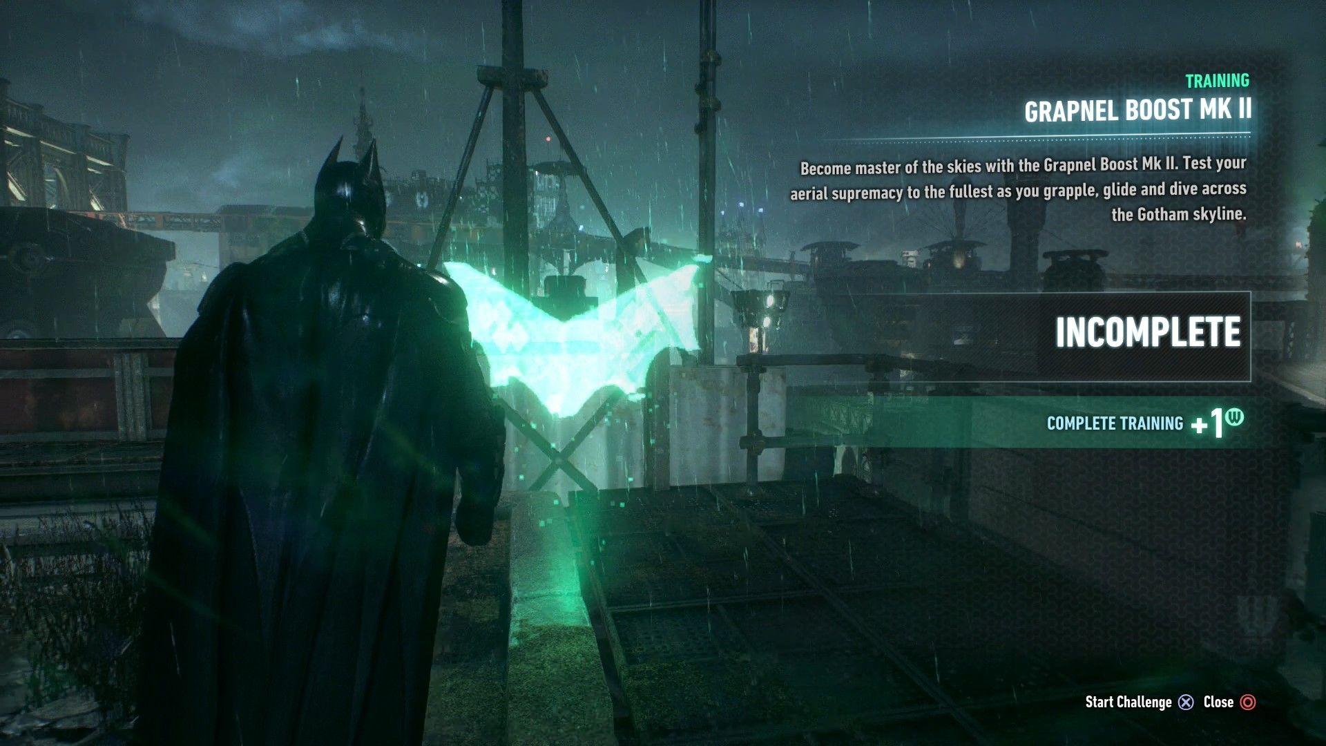 Batman Arkham Knight Grapnel Boost Mk Ii Ar Challenge Walkthrough Batman Arkham Knight Arkham Knight Batman Arkham