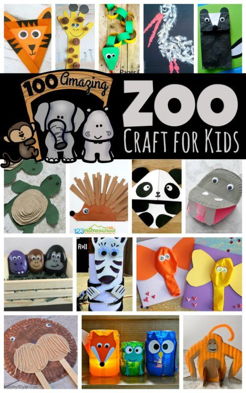 100 Amazing Zoo Craft Activities #animalcrafts