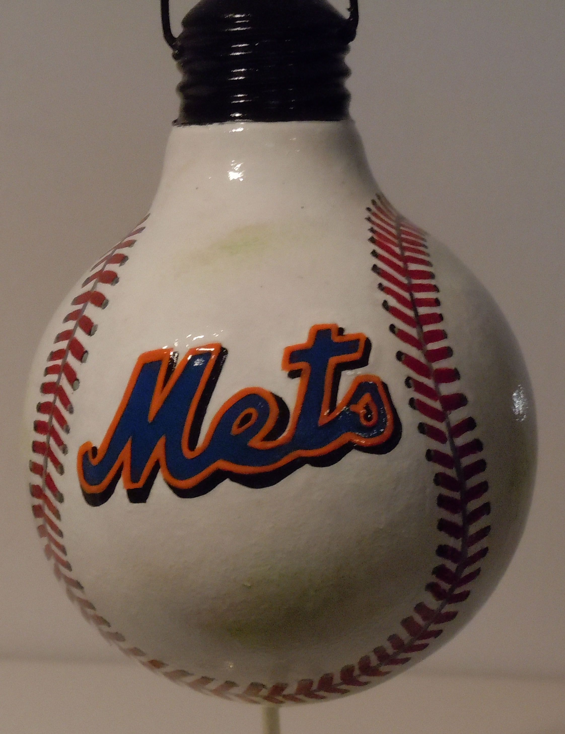 Mets baseball ornament | Ornaments we have painted | Pinterest ...