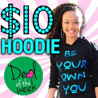 Get a comfy & cute pullover hoodie for just $10, while supporting a great brand with a message to build self-esteem of girls worldwide!