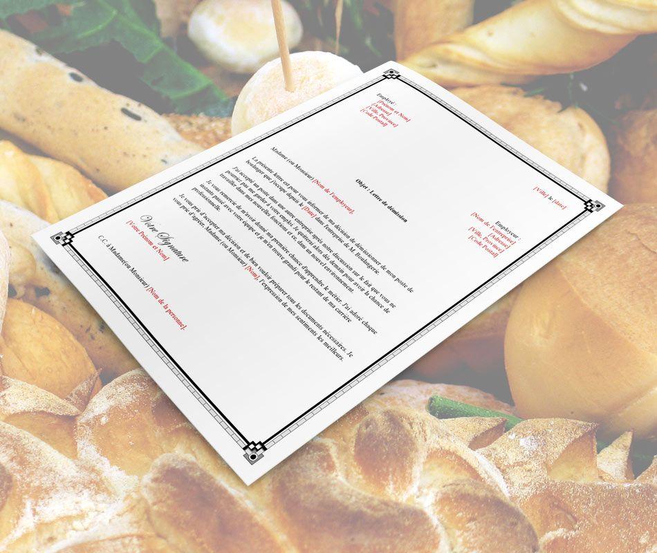 Lettre De Demission: Exemple_lettre_de_demission_pour_boulanger-page0001_pains