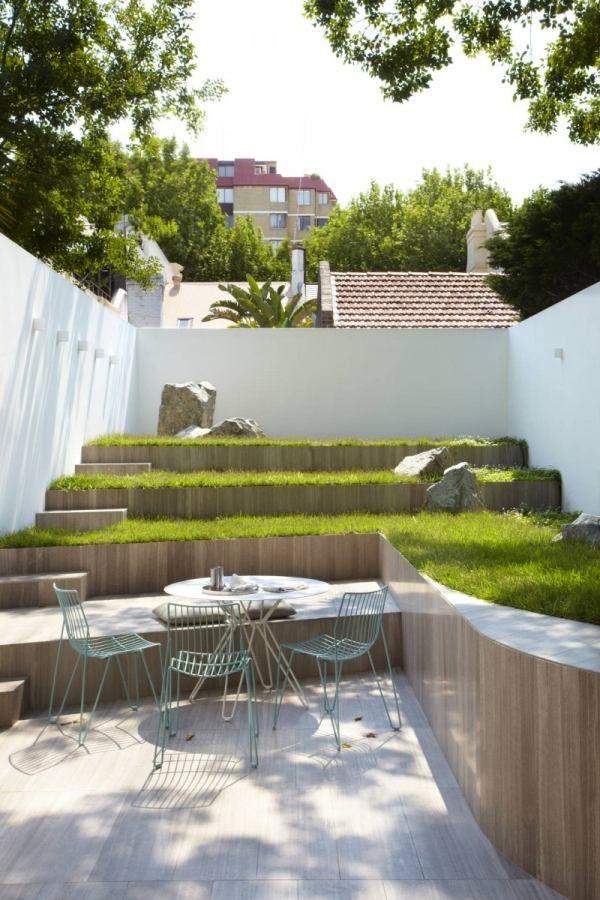 umgebautes reihenhaus sydney alt und modern hinterhof Garden - terrasse ideen modern gestalten