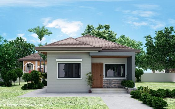 1. This Is A Two-bedroom House Designed For A Small Family