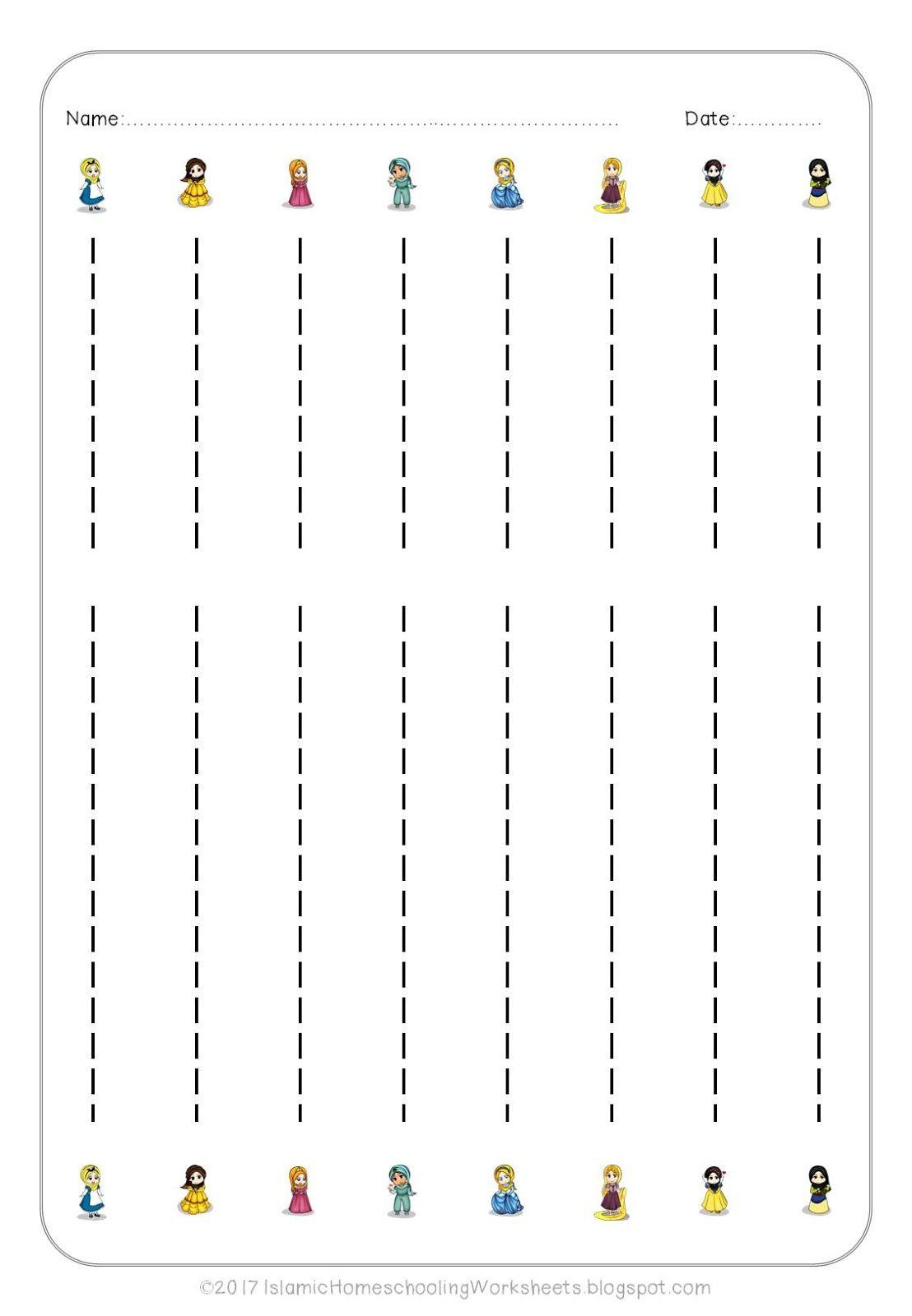 Image Result For Princess Tracing Worksheets