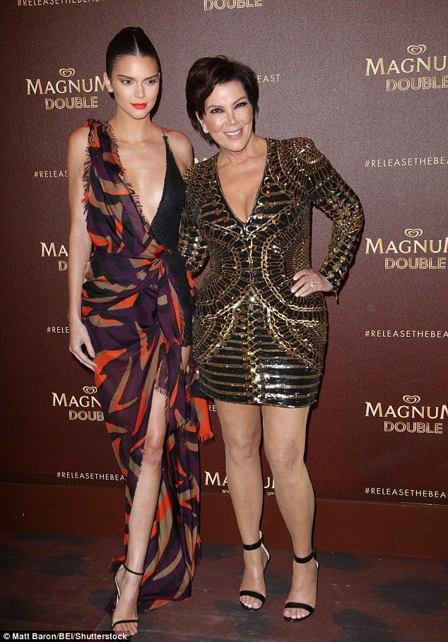 4aa97819db1eb Kris Jenner attempts to upstage daughter Kendall in Cannes