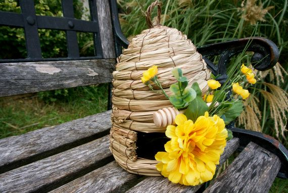 Unique Rustic Home Decor Weaved Bee Hive Table Setting by JCBees, $47.00
