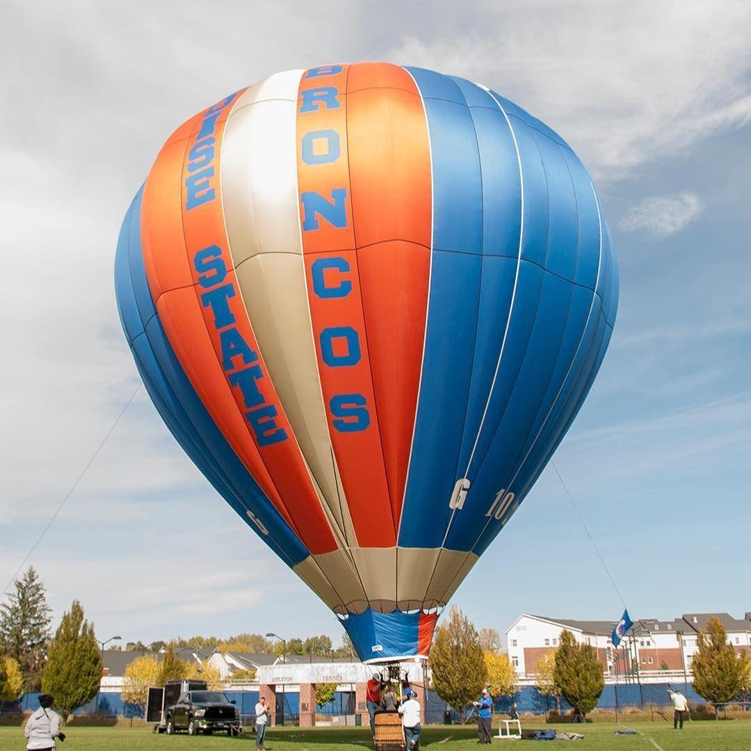 Boise State BSU Hot Air Balloon Pin Vintage Broncos Idaho