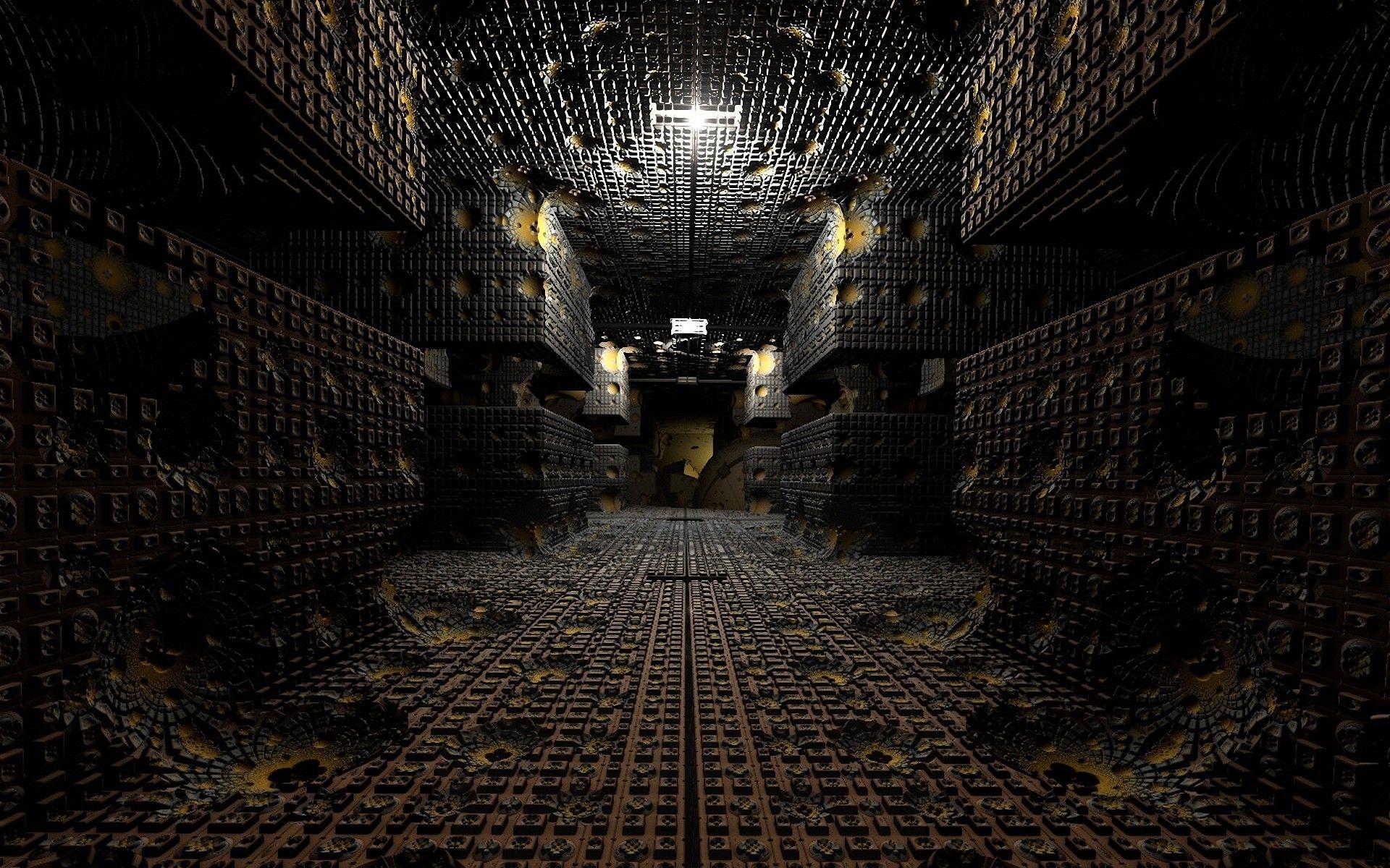 Cgi 3d Abstract Hallway Corridor Fractal Wallpaper Fractals Black Hole Wallpaper High Resolution Wallpapers