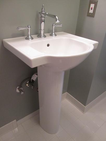 Kohler Veer Vitreous China Pedestal Combo Bathroom Sink In White