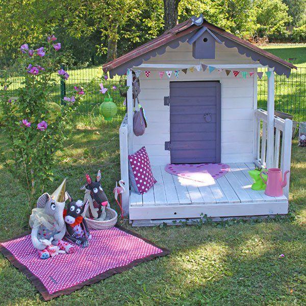 une cabane de poup es kinder terrace garden garden und house. Black Bedroom Furniture Sets. Home Design Ideas