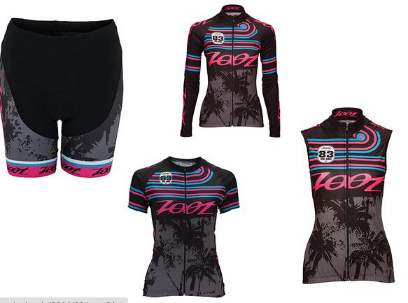 Zoot Womens LTD Short Sleeve Cycle Jersey High Performance Cycle Jersey with 3 Pockets