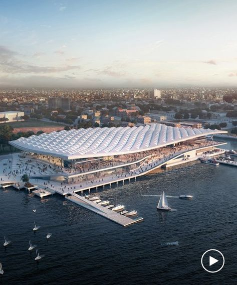 3xn Revises Design For Sydney U0026 39 S Giant New Fish Market In