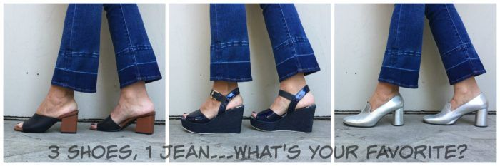 Styling Crop Jeans Over 40: Which shoe would you wear?