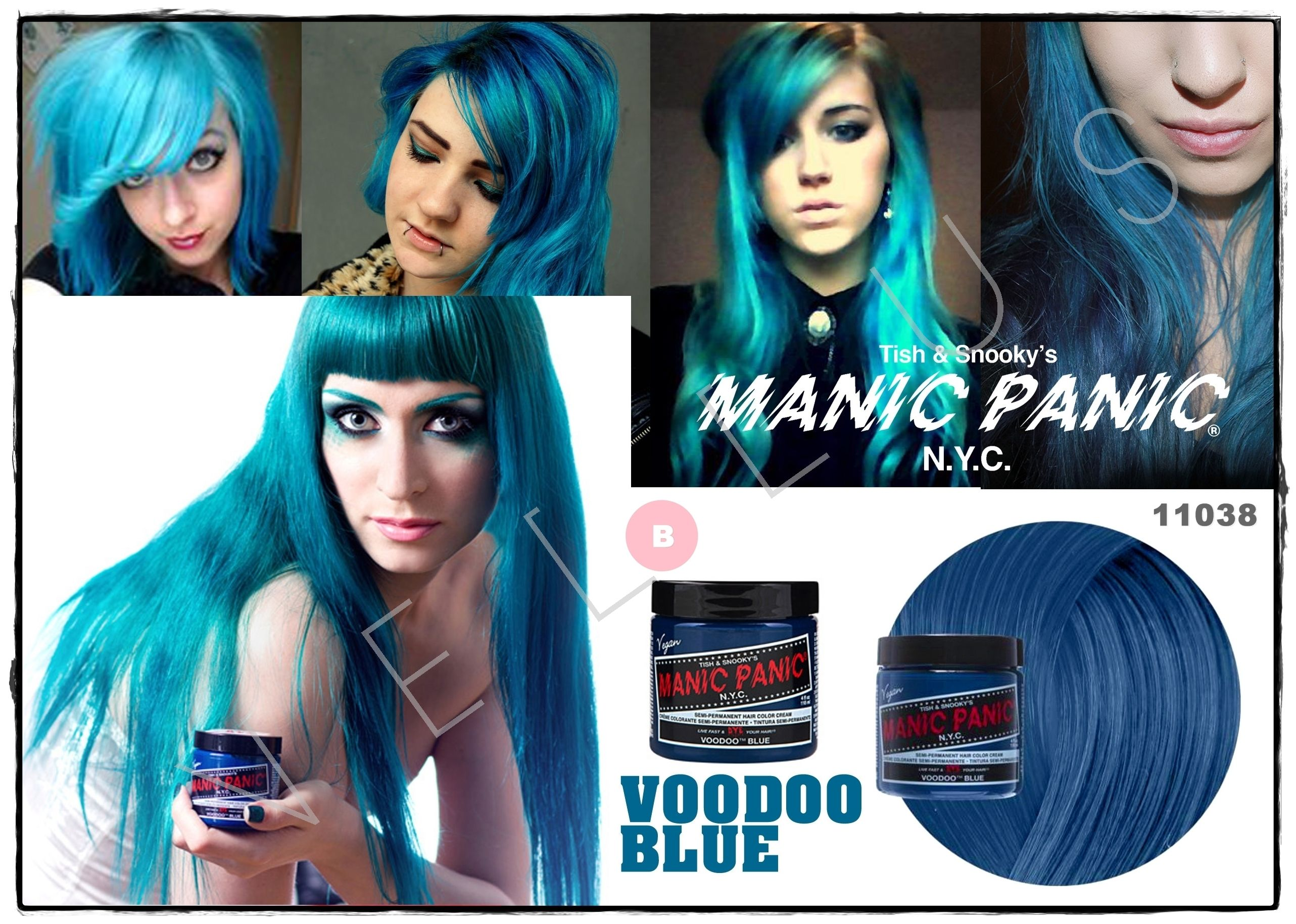 Manic Panic Classic Voodoo Blue Vellus Hair Studio 83a Tanjong Pagar Road S 088504 Tel 62246566 Hair Inspiration Color Cool Hair Color Permanent Hair Color