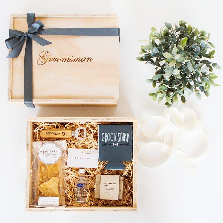 Best mangroomsman gift box custom engraved the bridal