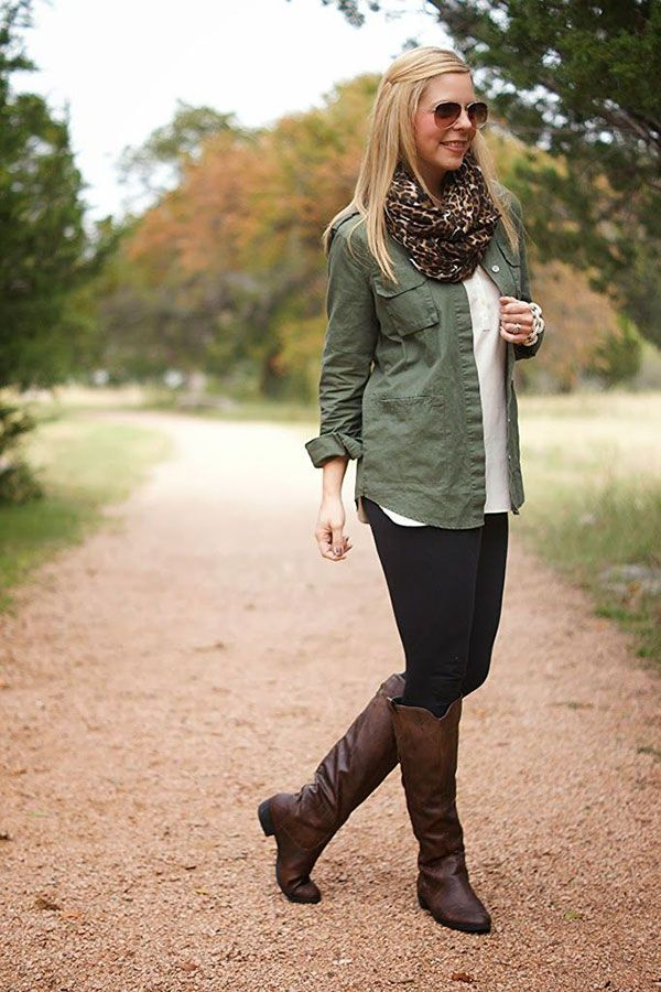 20 Style Tips On How To Wear Leggings | Tall leather boots ...