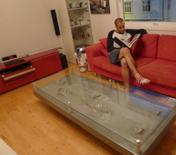 Thats right My Dream Table Han Solo in Carbonite Coffee Table