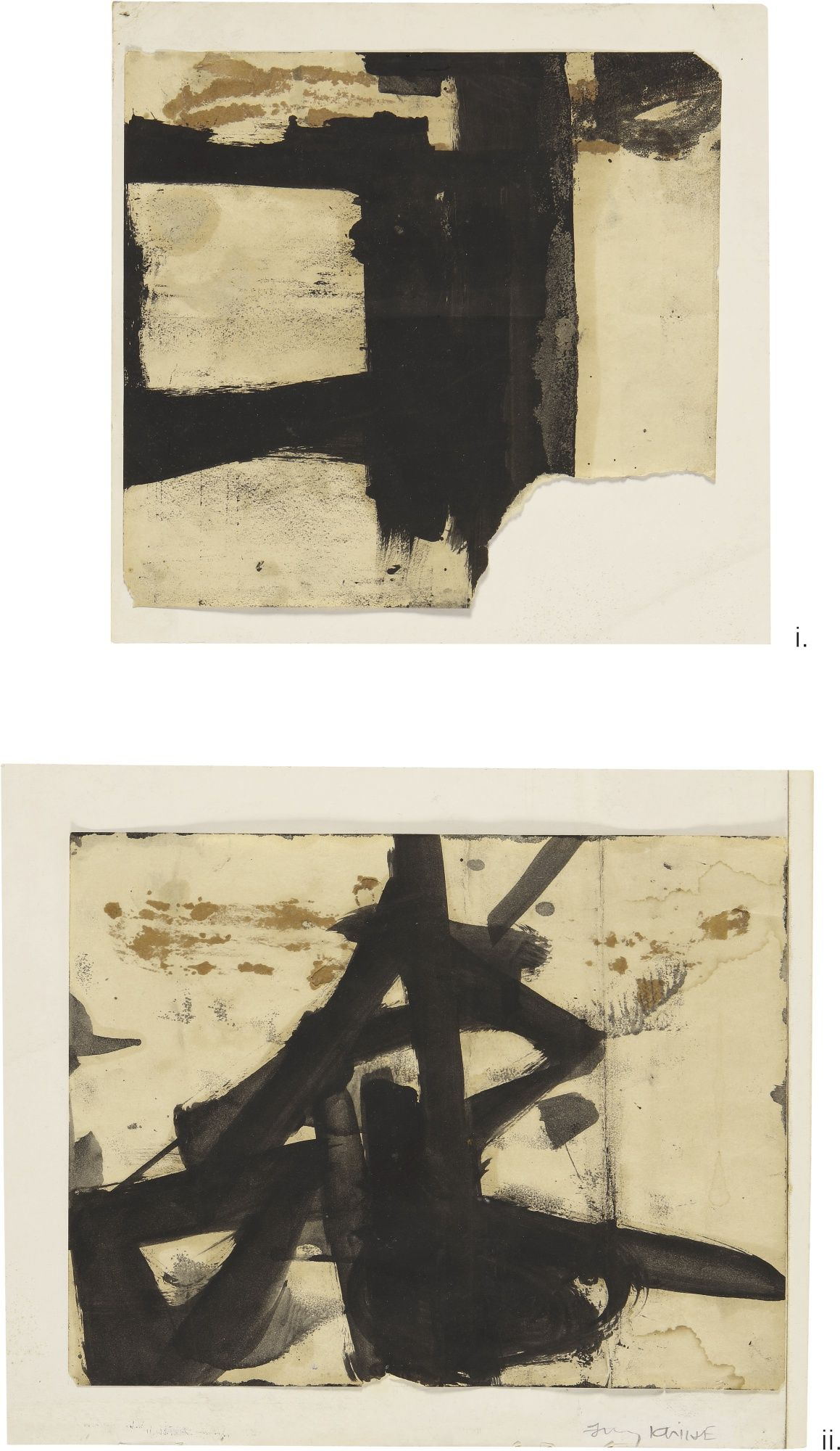 Kline Franz Untitled Diptych Abstract Sotheby S N09824lot9qclsen Abstract Modern Art Abstract Abstract Art