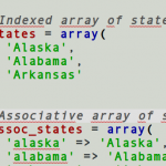 Working With Arrays In PHP