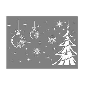Flocon de neige blanc d coration sapin de no l sticker for Decoration fenetre noel blanc