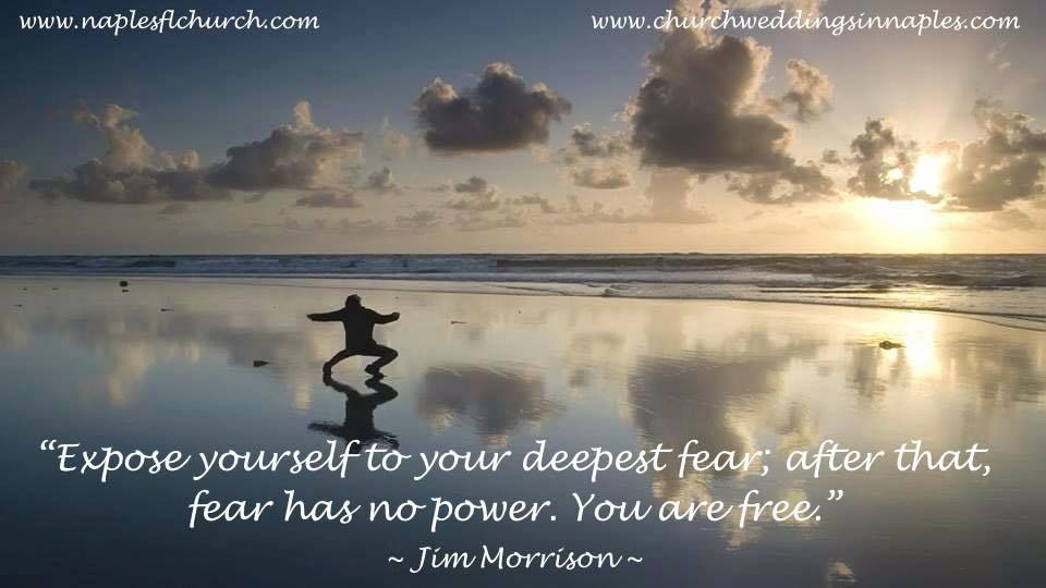 "#thoughtoftheday ~ ""#Expose yourself to your #deepest #fear; after that, fear has no #power. You are #Free."" ~ Jim Morrison"