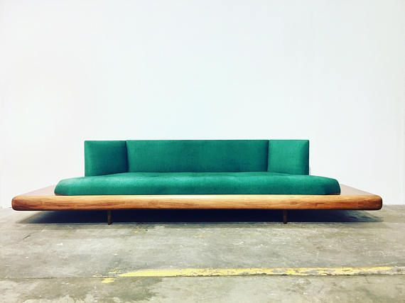 Freshly Reupholstered Adrian Pearsall Platform Sofa. Sofa Has Been Fully  Restored And Is Beautifully Upholstered