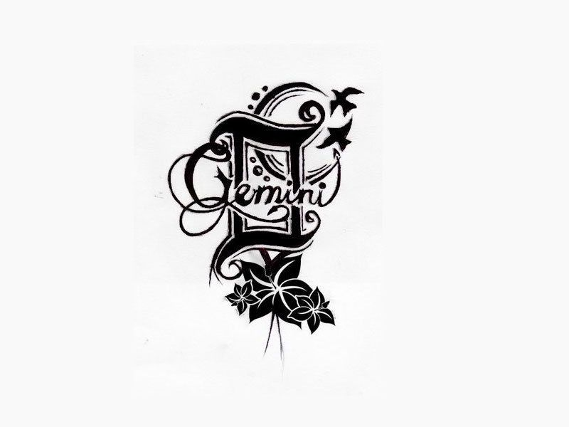 3b02210fd scorpio and gemini tattoos together | Gemini Zodiac Signs Tattoos: My  Favourite Gemini Zodiac Signs Tattoos .