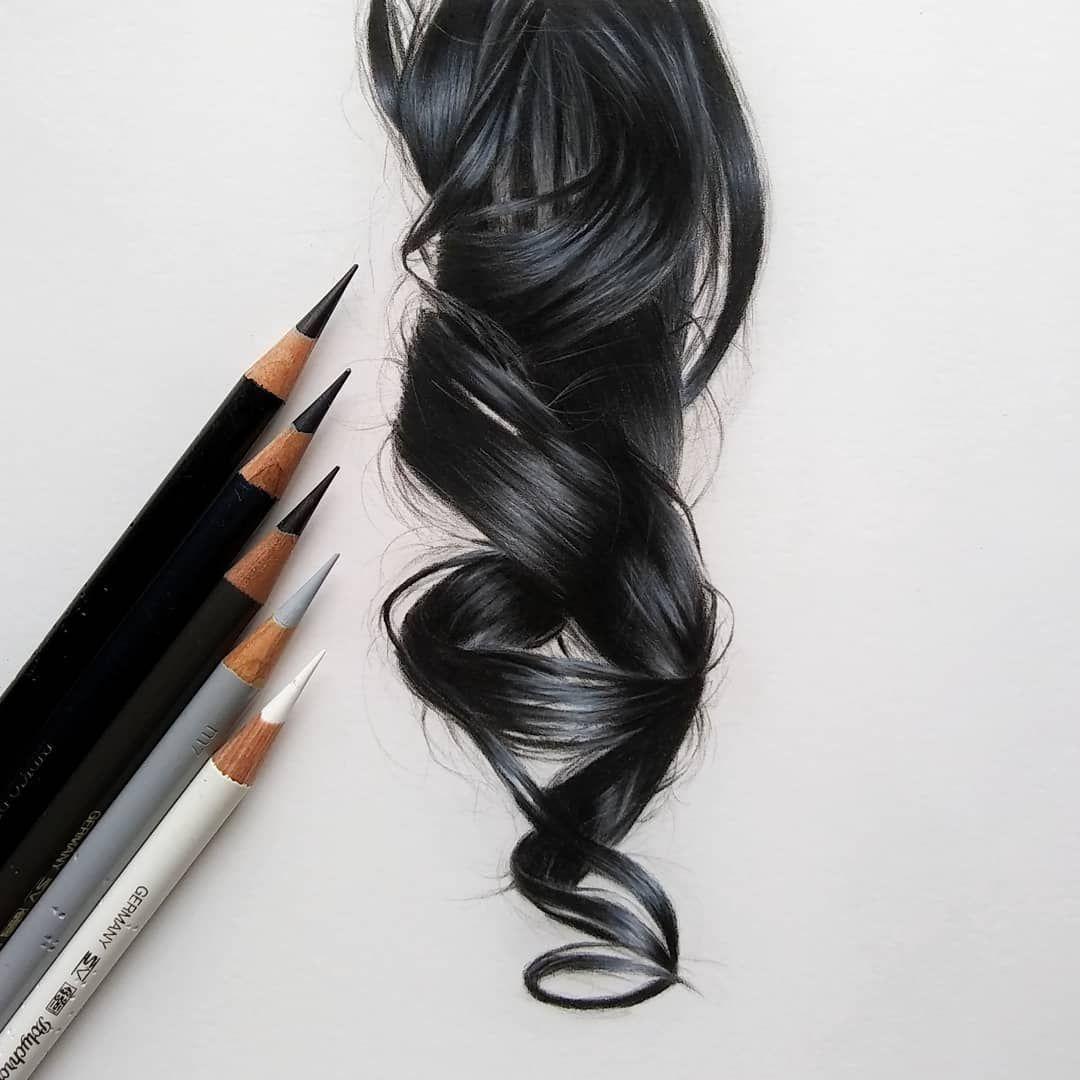 Catie sheeran art on instagram hair study no 4 black