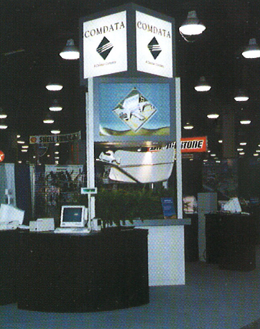 Check out this throwback photo of one of Comdata's trade show booths from 1999.