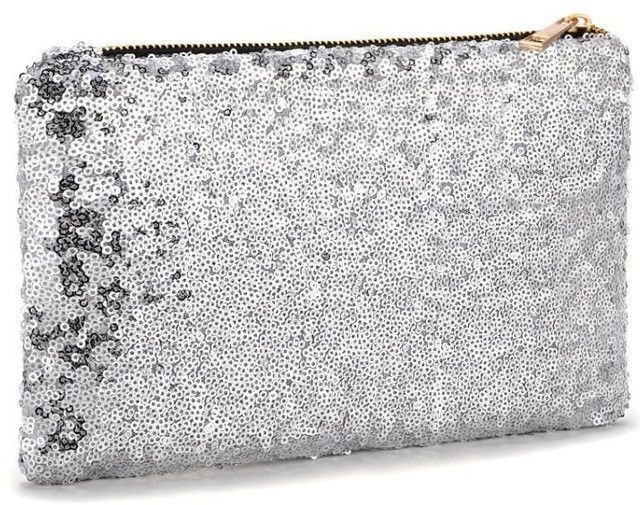 2017 New Fashion Womens Ladies Sparkling Bling Sequin Clutch Bag Purse Evening Party Handbag Makeup Bag Bolsa Feminina 2G0017