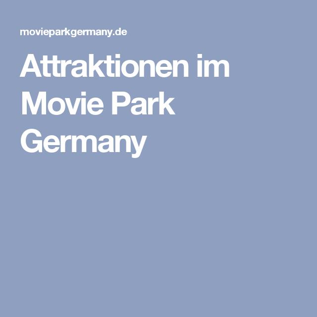 Attraktionen im Movie Park Germany
