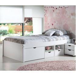 Funktionsbett Thomason Mit Stauraum 90 X 200 Cm In 2020 Einzelbett Weiss Bett Lagerung Bett Mit Schubladen
