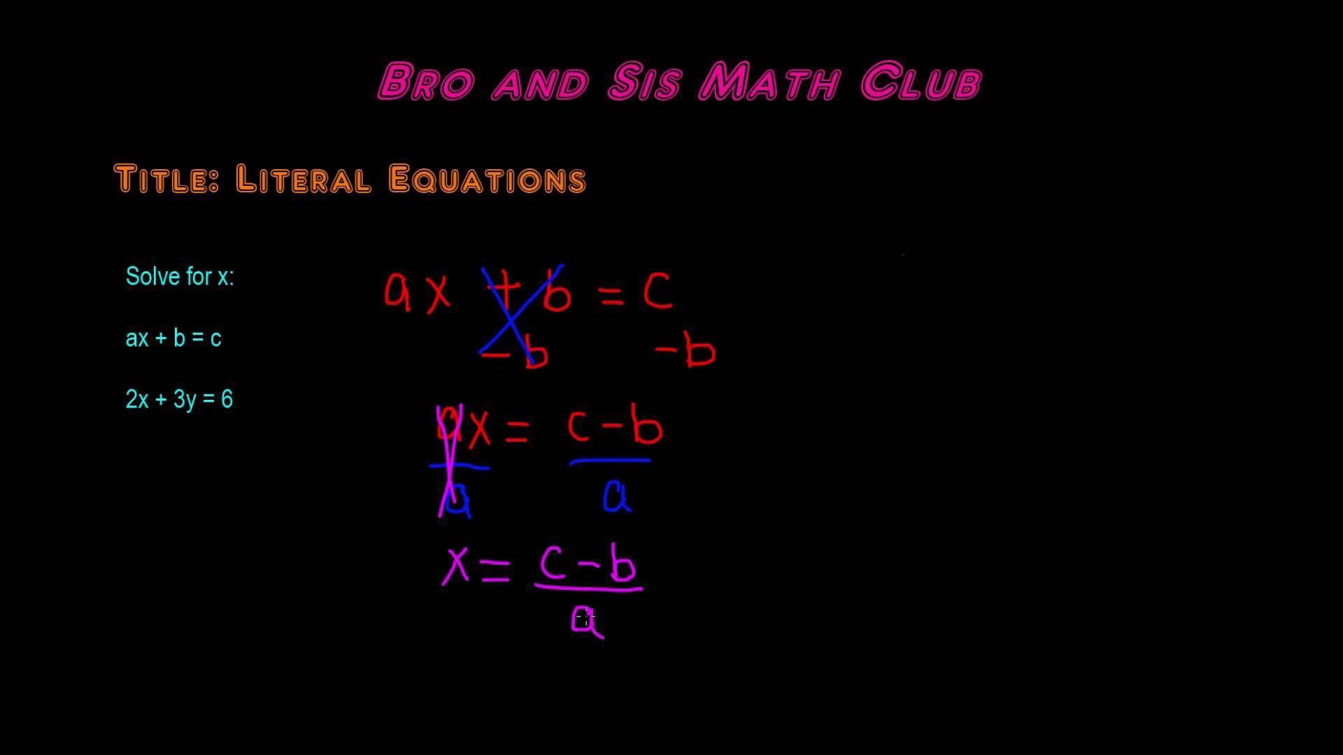 Math Ideas Math Answers Literal Equations Math Books [ 1080 x 1920 Pixel ]