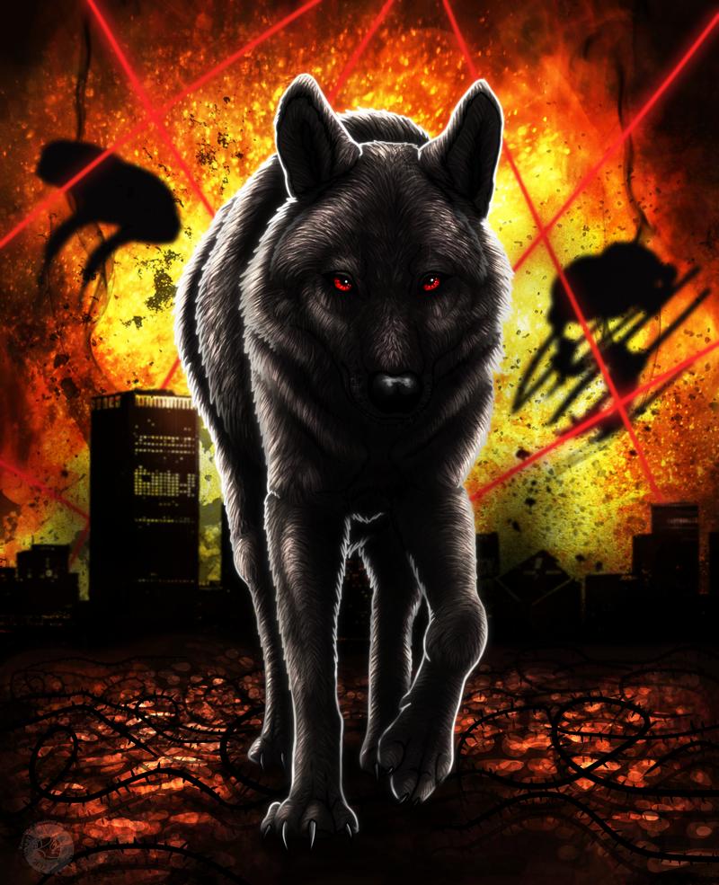 имеют найти картинку волк в огне интересная
