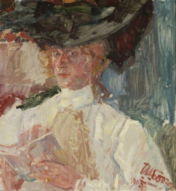 Jan Toorop - Lucie van Dam van Isselt (here on a portret of Jan Toorop) (June 15, 1871 - June 7, 1949) Dutch painter, draftsman and etcher.