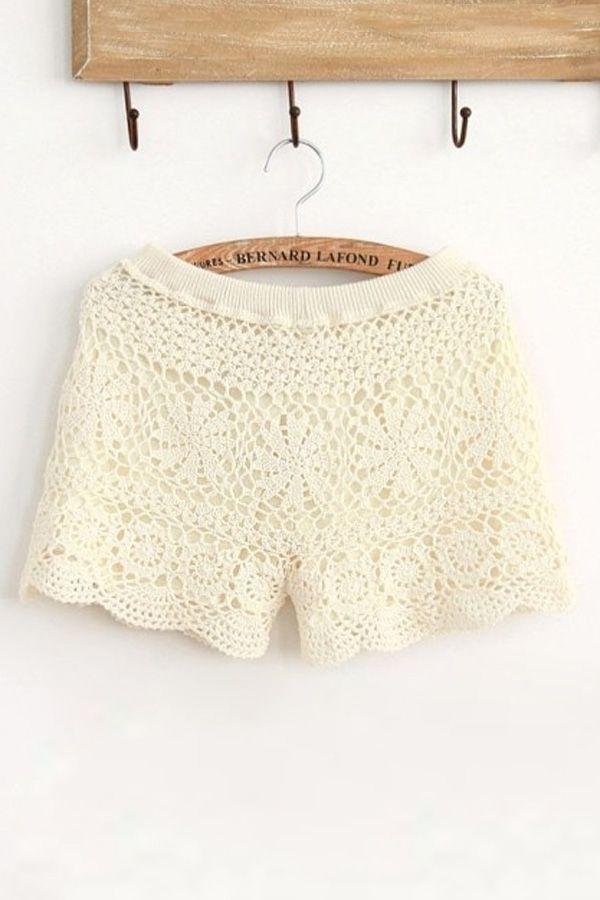 Crochet Shorts | free pattern | Pinterest | Tejido, Ganchillo y Falda