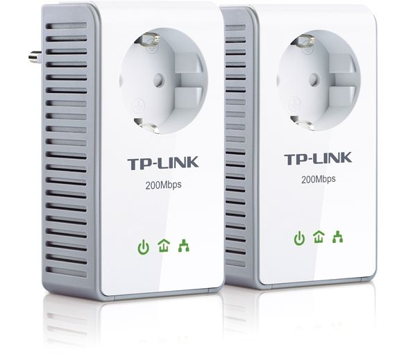 Tp Link Tl Pa250kit Av200 Powerline Adapter With Ac Pass Through
