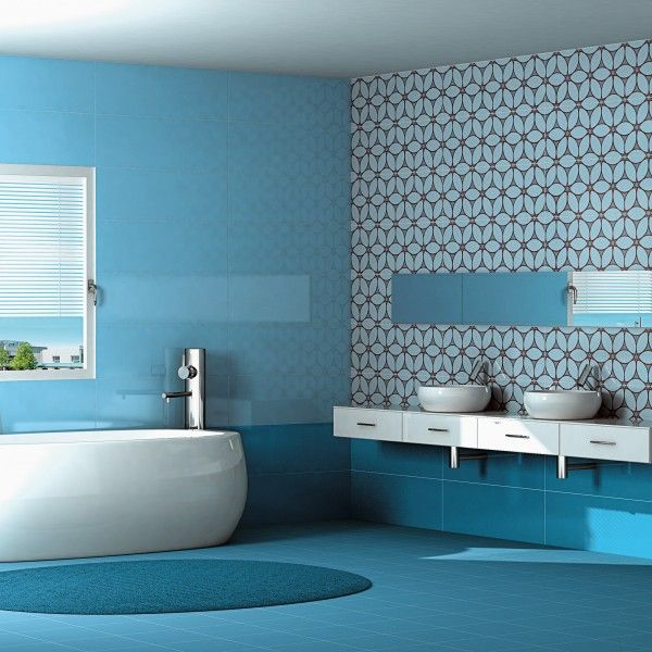 Heritage Tiles Brighten Up Your Bathroom with Glossy Bathroom