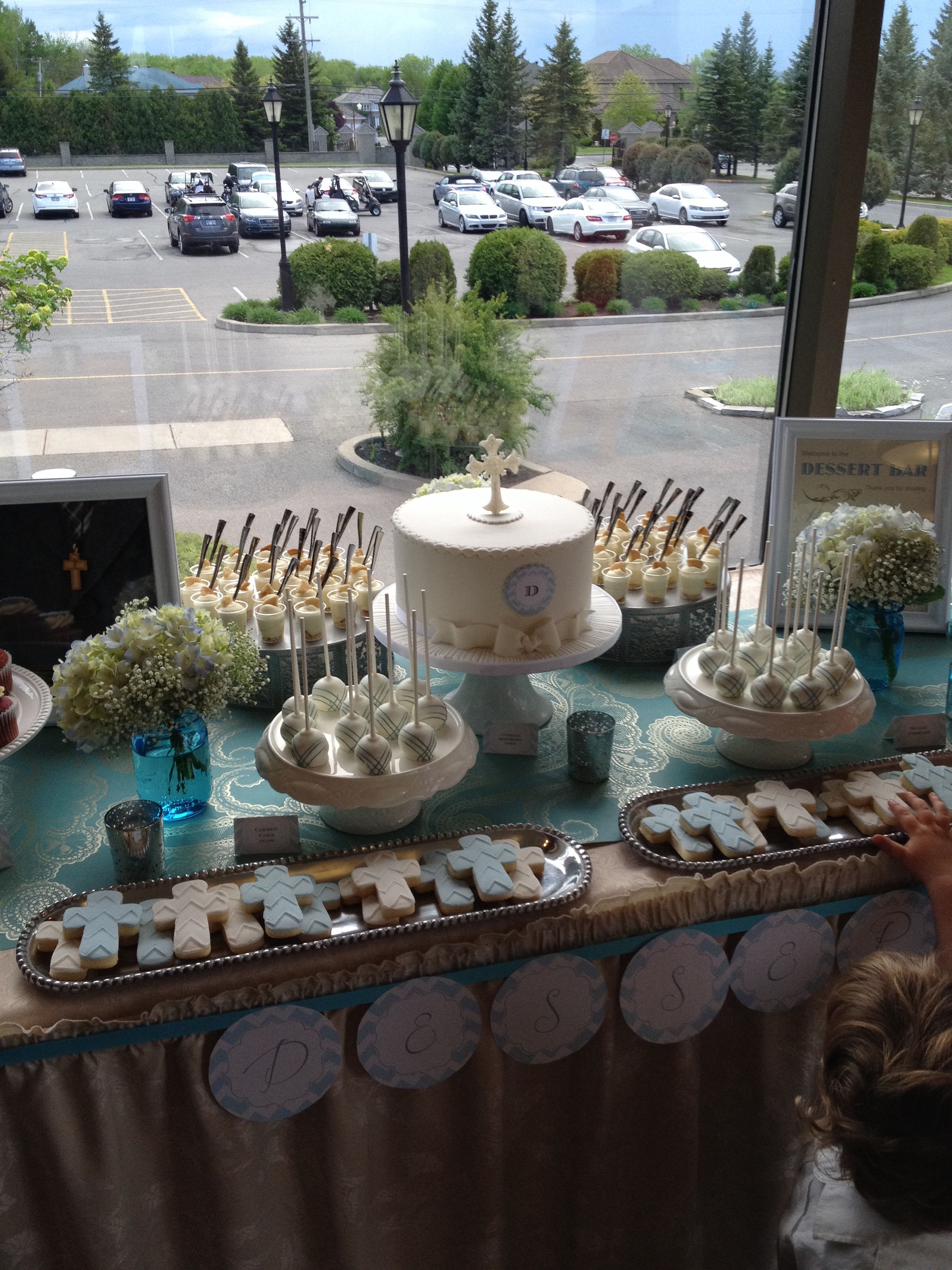 Confirmation Dessert Table By Three C Baking Cie Table Decorations Table Settings Dessert Table