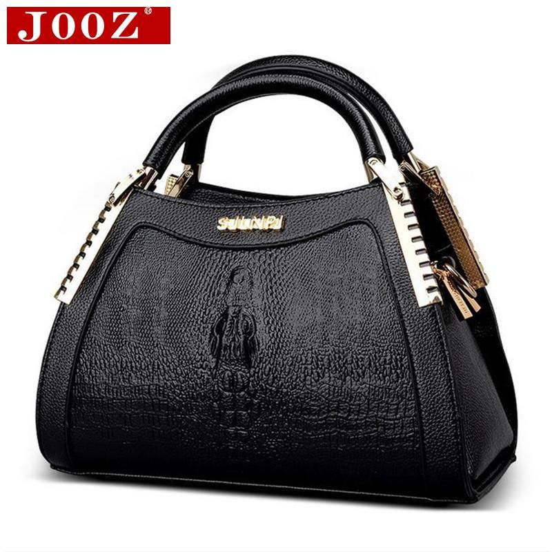 4023b8c237 JOOZ Moda in pelle di Alligatore borse Donne Messenger Bag di Coccodrillo  testa Borsa Crossbody Per Le Donne del partito della borsa Bolsas Feminina