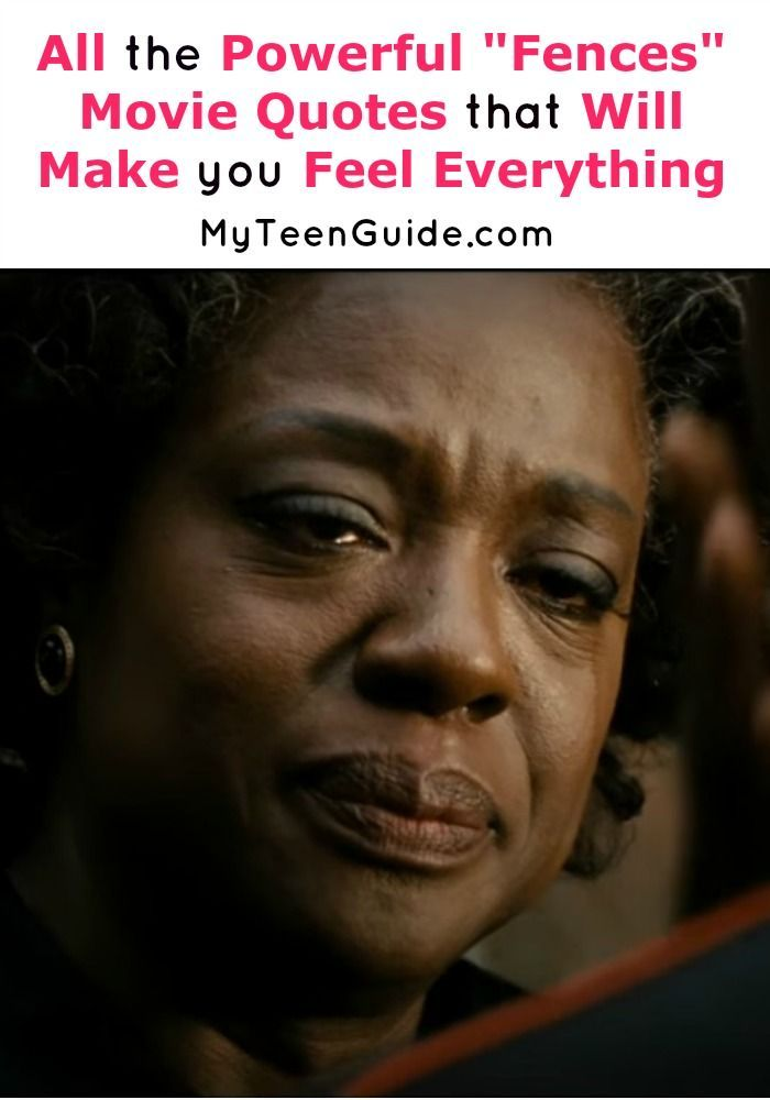 """Fences Quotes 4 Powerful """"fences"""" Movie Quotes To Make You Feel Everything"""